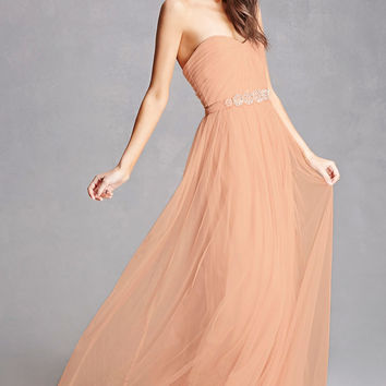 Tulle Sweetheart Maxi Dress