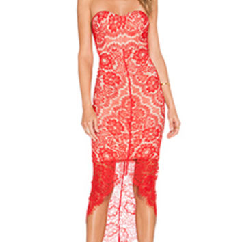 Elle Zeitoune LUXE Macey Dress in Red