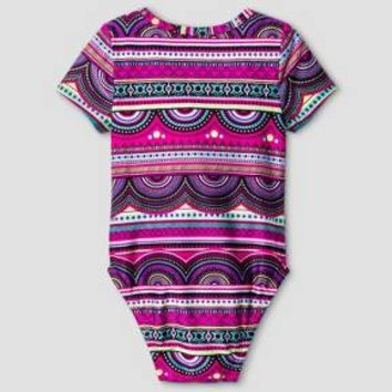 Baby Girls' One Piece Rash Guard Baby Cat & Jack™ - Pink