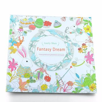 24 Pages Drawing Book Fantasy Dream English Edition Coloring Book for children and Adult it help  Relieve Stress