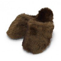 Furry Slippers - Shoes & Bags