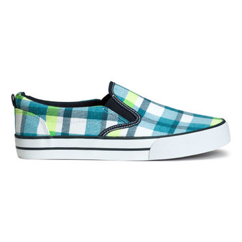 H&M - Plaid Sneakers - Turquoise/Checked - Kids
