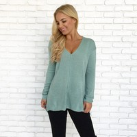 Skylar Knit Sweater Top in Mint