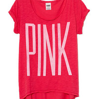 Slouchy Cuffed Tee - PINK - Victoria's Secret