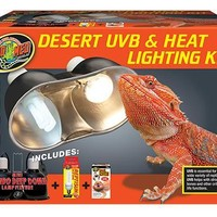 Zoo Med Desert Reptile UVB & Heat Lighting Kit