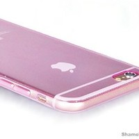 "iPhone 6 Plus Case, 5.5"" Shamo's Thin Case Cover TPU Rubber Gel, Transparent Clear Back Case for Iphone 6 Plus, Soft Silicone, Shamo's (Pink)"