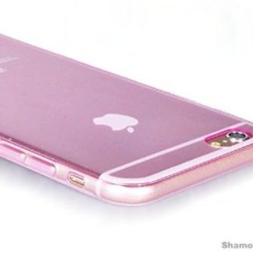 """iPhone 6s Plus Case, Shamo's® Thin Case Cover 5.5"""" TPU Rubber Gel, Transparent Clear Back Case for Iphone 6 Plus, Soft Silicone, Shamo's [Compatible with iPhone 6 plus and iPhone 6s Plus] (Pink)"""