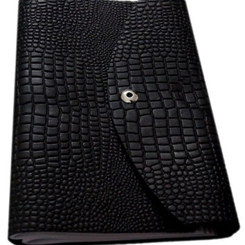 Croco Embossed Leather Diary/ Journal- Long Book