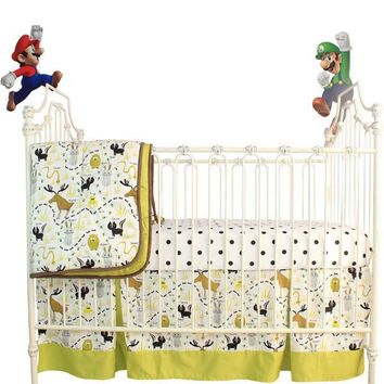 Woodland Animals Crib Bedding | Animal Print Baby Bedding Set