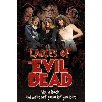 LADIES OF EVIL DEAD MOVIE POSTER - RARE NEW 24X36 PRINT