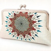 Mandala original printed silk clutch purse by redrubyrose on Etsy