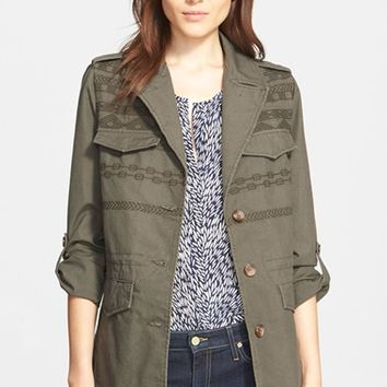 Women's Joie 'Evandale' Embroidered Military Jacket,