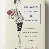 The Gospel According To Coco Chanel: Life Lessons From The World's Most Elegant Woman by Anthropologie in Ivory Size: One Size House & Home