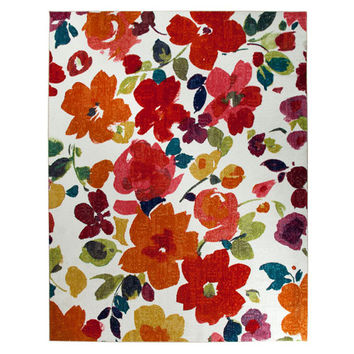 Mohawk Home 11819 416 060096 Bright Floral Toss Multi-Colored Rectangular: 5 Ft. x 8 Ft. Rug