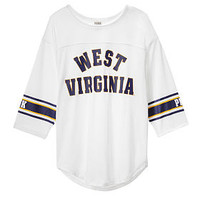West Virginia University Boyfriend Jersey Tee - PINK - Victoria's Secret