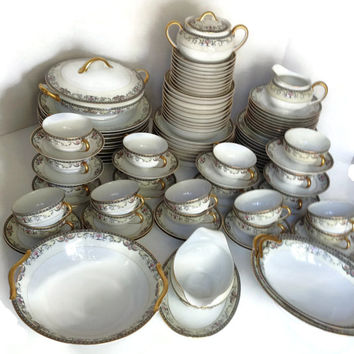 Vintage China Set Noritake Mayville 1920-1940 Made in Japan