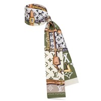 LV women's versatile multi-purpose small scarf Green