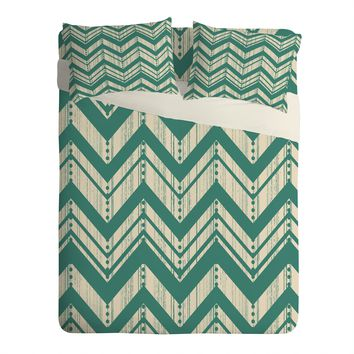 Heather Dutton Weathered Chevron Sheet Set Lightweight