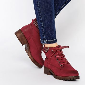 New Look Wide Fit Workman's Boot