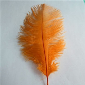 Decorative Ostrich Feathers, 15-inch, 1-feather, Orange