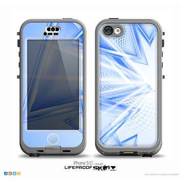 The Clear Blue HD Triangles Skin for the iPhone 5c nüüd LifeProof Case