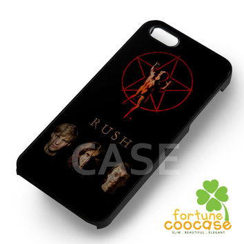 Rush Band image on wood star symbol -stll for iPhone 6S case, iPhone 5s case, iPhone 6 case, iPhone 4S, Samsung S6 Edge