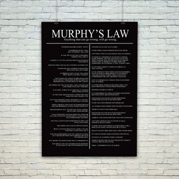 Murphys Law Poster Poster Print Wall Decor Canvas Print - piegabags.com