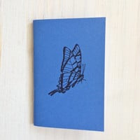Small Notebook: Butterfly, Blue, Lovely, Sweet, Kids, Favor, Mother's Day, For Her, For Him, Mini Journal, Small Notebook, Unique, WWW262