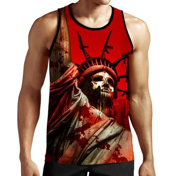The Punisher Statue of Liberty Tank Top