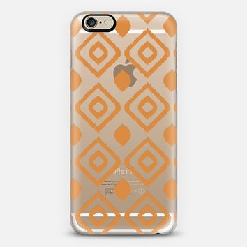CORAL IKAT - CRYSTAL CLEAR PHONE CASE iPhone 6 case by Nika Martinez | Casetify