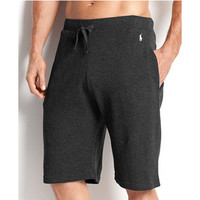 Polo Ralph Lauren Men'S Loungewear, Waffle Thermal Shorts L, Black