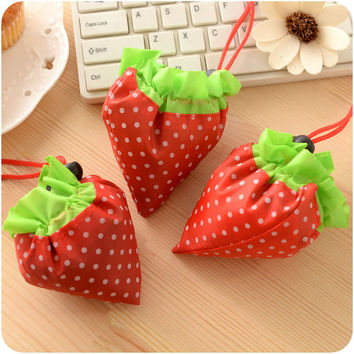 Korean Strawberry Lovely Bags Portable Stylish Waterproof Environmental Tote Bag [6395678852]