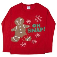 Gingerbread Holiday Graphic Pullover Sweater Red