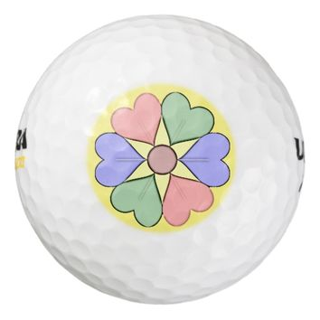 Artistic Flower Golf Balls