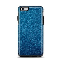 The Blue Sparkly Glitter Ultra Metallic Apple iPhone 6 Plus Otterbox Symmetry Case Skin Set