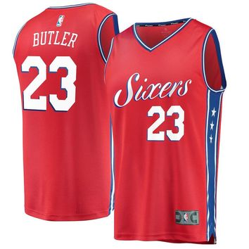 Men's Philadelphia 76ers Jimmy Butler Fanatics Branded Red Fast Break Swingman Jersey – Statement Edition - Best Deal Online