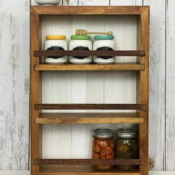 The Mansfield Spice Rack No. 101 - Wall Mount or Countertop Spice Rack