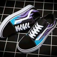 Vans Classics Flame Old Skool Sneaker boost shoes (black-purple-blue) H-JJ-MYZDL