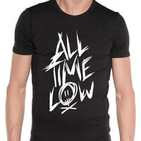 all time low music logo art tshirt men size from S========5XL,and custom tshirt