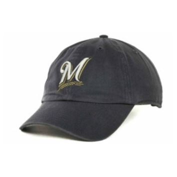 DCCKG8Q MLB Milwaukee Brewers 47 Brand Clean up Blue Adjustable Hat