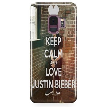 Keep Calm And Love Justin Bieber Samsung Galaxy S9 Case | Casefantasy