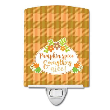 Fall Pumpkin Spice and Everything Ceramic Night Light BB6920CNL