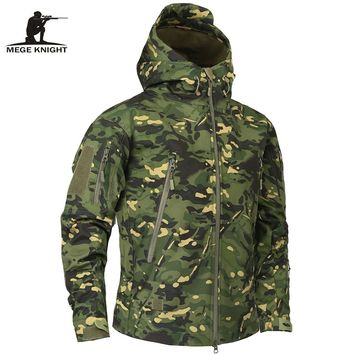 Mege Brand Clothing Men's Military Camouflage Fleece Jacket Army Tactical Clothing Multicam Male Camouflage Windbreakers