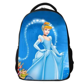 Orthopedic Children School Bags For Girls New 2015 Kids Backpack Cinderella WINX Book Bag Princess Sofia the First Schoolbag