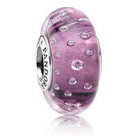 Pandora Purple Effervescence Murano Glass Charm