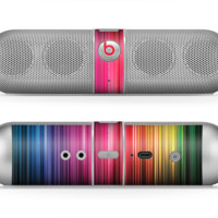 The Straight Abstract Vector Color-Strands Skin for the Beats by Dre Pill Bluetooth Speaker