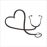 creative Love Heart Stethoscope computer laptop wall sticker home decor doctor hospital office decoration car decals Cool Gift SM6