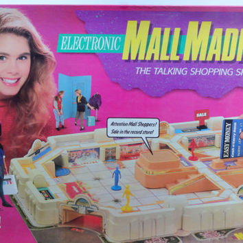 Vintage Milton Bradley's Electronic Mall Madness Board Game 1989