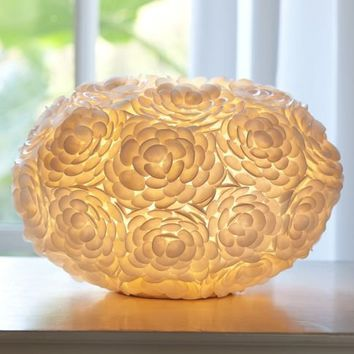 Rosette Shell Table Lamp