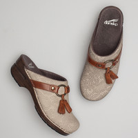 Shandi Taupe Lace Textured Nubuck Leather
